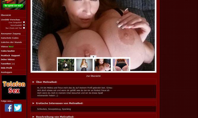 Camgirl - 'MelinaRed 777Livecam Profil