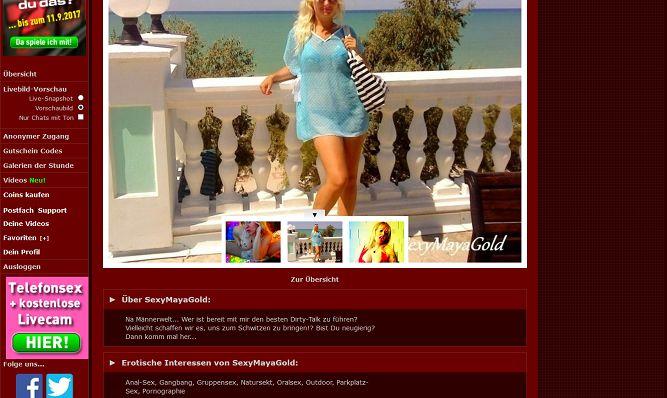 Camgirl 'SexyMayaGold 777Livecam Profil