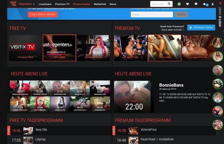 Visit-X TV Programm